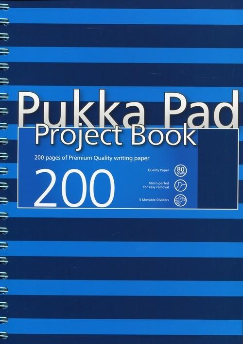 Project Book Navy A4 200 kratka niebieski