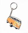 BRELOK GUMOWY AUTA PRL VW HIPIS POMARAŃCZOWY -