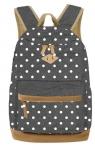 Plecak młodzieżowy w kropki Basic szary (607801)
