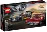 Lego Speed Champions: Samochód wyścigowy Chevrolet Corvette C8.R i 1968 Chevrolet Corvette (76903)