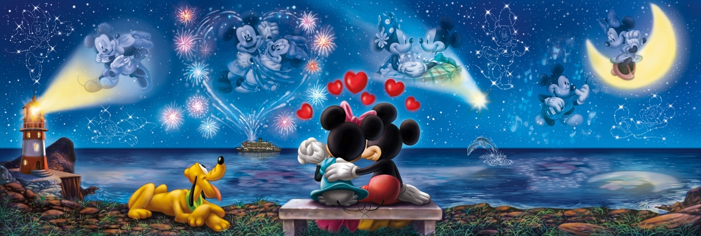 Puzzle High Quality Collection Panorama 1000: Mickey & Minnie (39449)