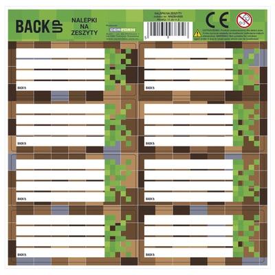 Naklejki na zeszyty BackUp 4 A 68 - Game (NNZB4A68)