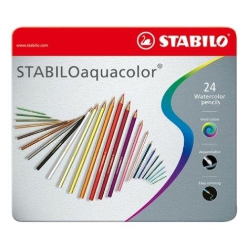 Kredki Aquacolor 24 kolory metalowe pudełko