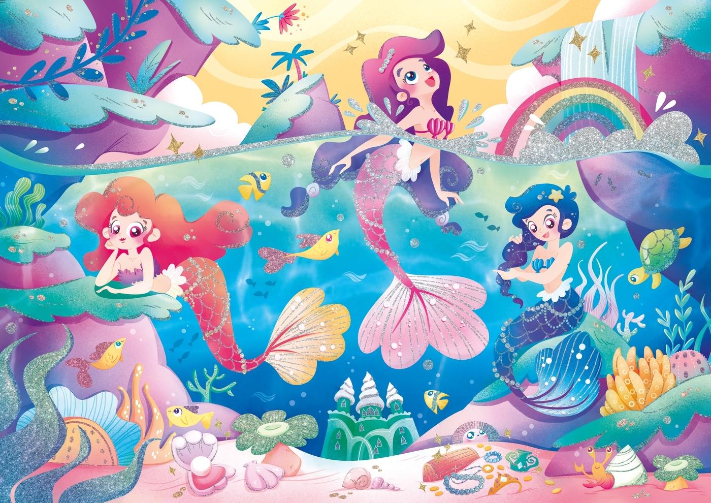 Puzzle Glitter SuperColor 104: Under the Sea (20149)