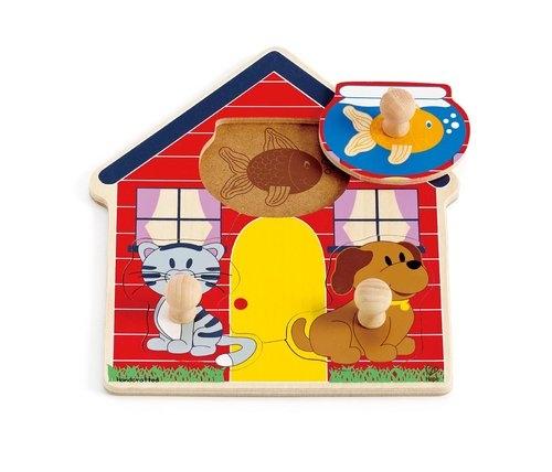 Puzzle - domek zwierząt (E1304)