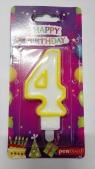 Świeczka urodzinowa - 4 (PTN-4)