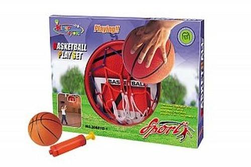 Koszykówka 33x46cm z piłką 15cm oraz pompką