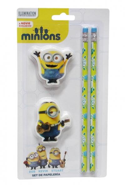 Zestaw Minions ołówek z gumką Eurocom