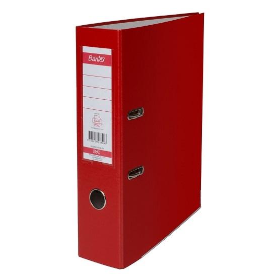 Segregator Bantex dźwigniowy XXL A4/8cm - czerwony (100551788)