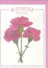 Karnet B6 Kwiaty akwarela. Goździk