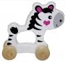 Drewniane zwierzątko do pchania Zebra