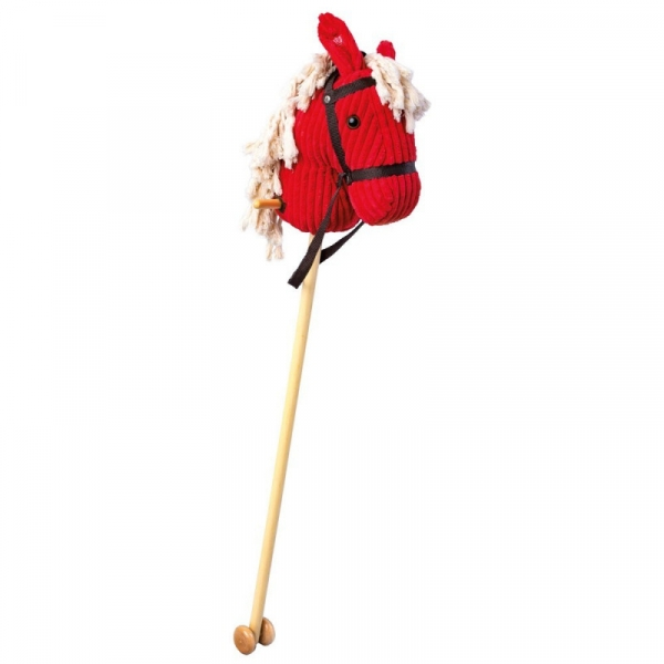 Drewniany kijek Koń czerwony dźwiękiem (82549)