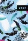 Kalendarz 2020 książkowy tygodniowy Narcissus Feathers A6 (02497)
