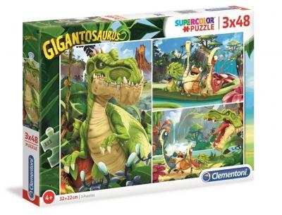 Puzzle Supercolor 3x48 Gigantosaurus (25249)