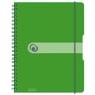Brulion na spirali A4/80k kratka zielony (11293099)