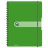 Brulion na spirali easy.orga A4/80k kratka - zielony (11293099)