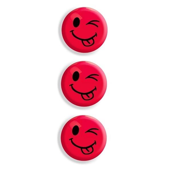 Magnesy do tablic czerwone 50mm/3szt. - język (GM304-TC3)