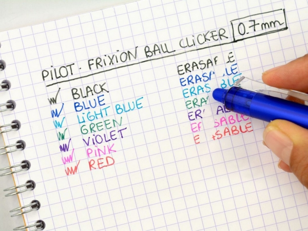 Automatyczne wymazywalne pióro kulkowe Pilot FriXion Ball Clicker - czarne (BLRT-FR7-B)
