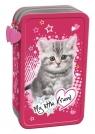 Piórnik 2 poz. z wyposażeniem My Little Friend Kot