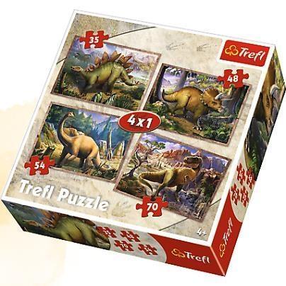 Puzzle Dinozaury 4w1 (34249)