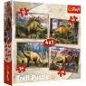 Puzzle 4w1: Dinozaury (34249)