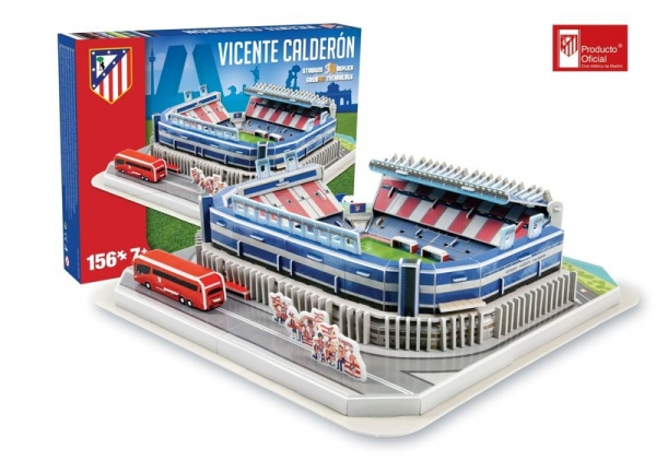Puzzle Model Stadionu Vicente Calderon 156 elementów (Atletico Madrid) (01549)