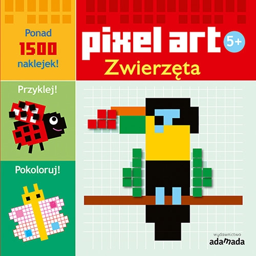 Pixel art Zwierzęta Kolorowanka Opracowanie zbiorowe