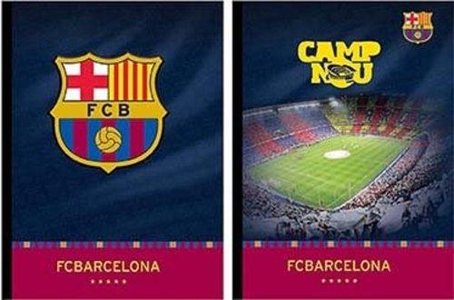 Zeszyt Fc Barcelona Sztywna Okładka A4 Kratka /6szt