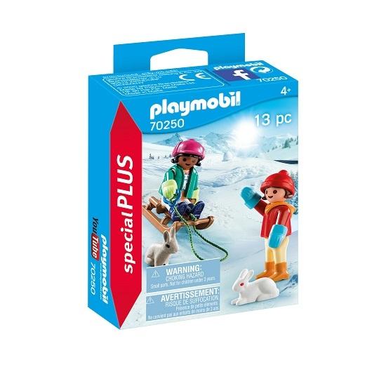 Playmobil Special Plus: Dzieci na sankach (70250)