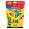 Flamastry Colorino Kids dwustronne 2in1, 12 kolorów (92500PTR)