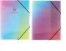 Teczka na gumkę A4 glitter rainbow mix 88304