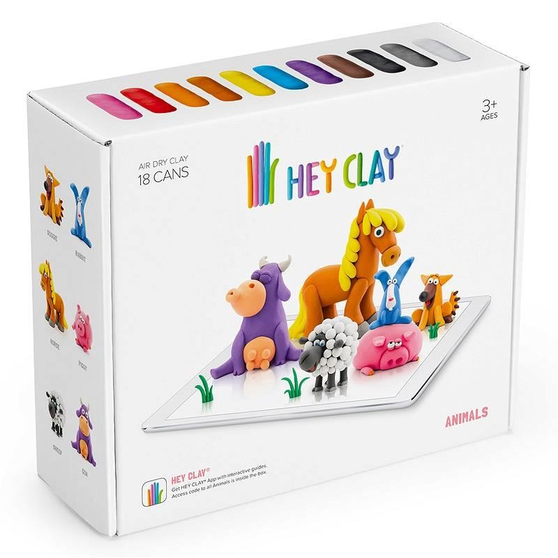 Hey Clay: masa plastyczna - Zwierzęta (HCLSE002PCS)