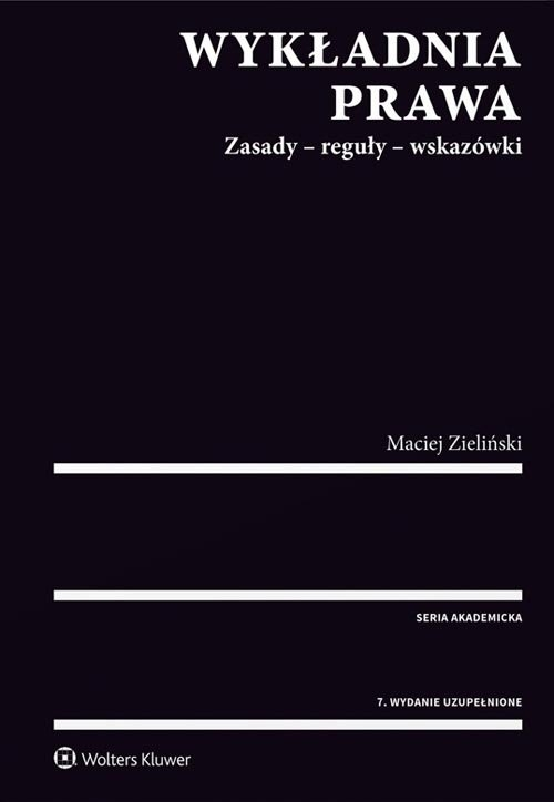 Wykładnia prawa Zieliński Maciej