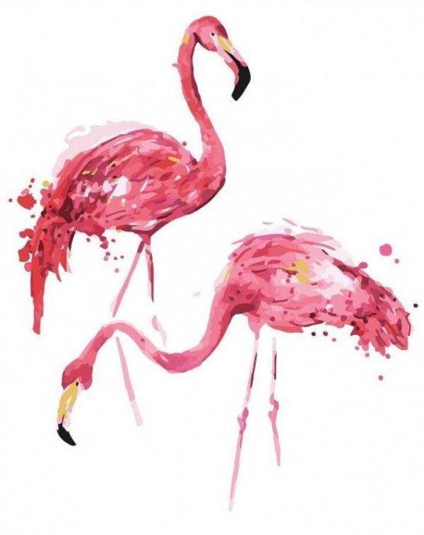 Obraz Malowanie po numerach - Flamingi (GX3771)
