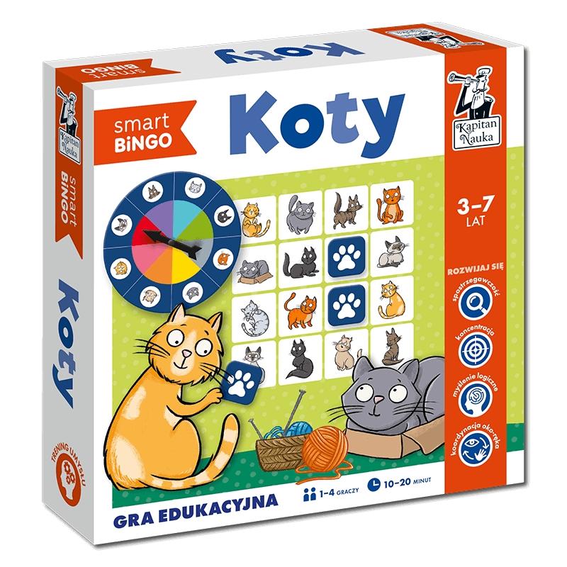 Kapitan Nauka. Koty. Smart Bingo. Gra edukacyjna