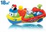 Nakręcona łódka pływam i jeżdżę - mix wzorów