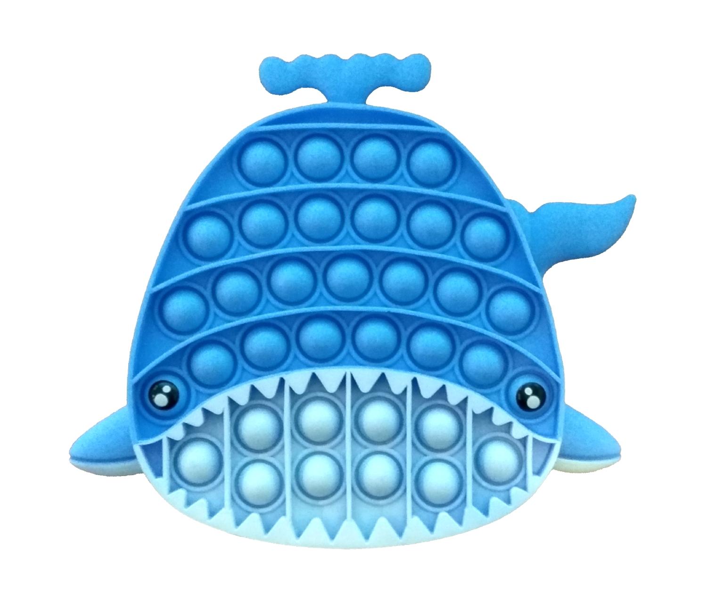 Plop Up! - zabawka sensoryczna, antystresowa, gniotek - Wieloryb (621042)