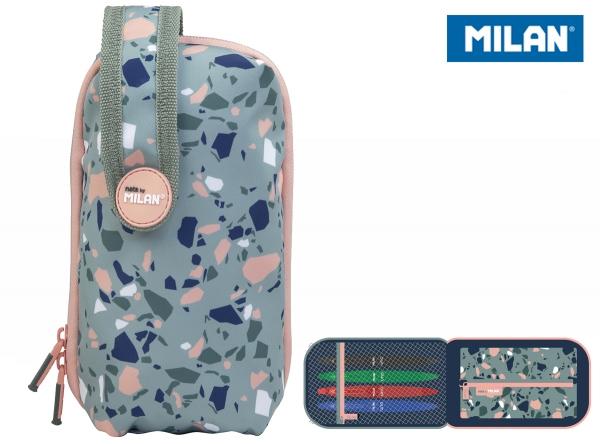 Multipiórnik owalny mini Milan z 1 szaszetką Terrazzo Green Eco zielono-różowy (08871TZG)