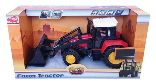 Traktor farmera czerwony