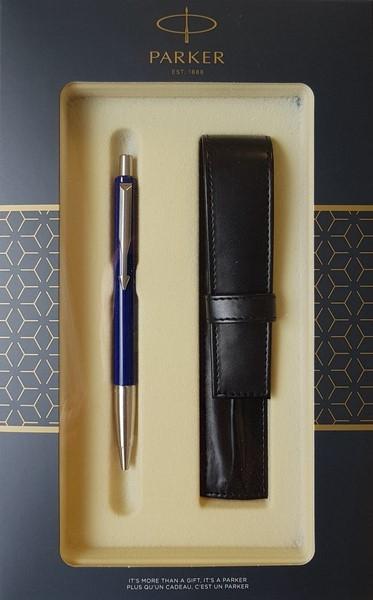 Zestaw upominkowy Parker: Długopis Parker Vector Niebieski CT + Etui Pagani (S0824500)
