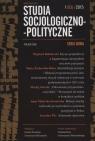 Studia Socjologiczno-Polityczne 1(3)/2015