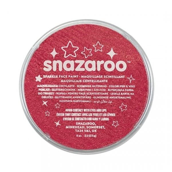 Farba do twarzy i ciała Snazaroo 18ml - czerwona błyszcząca (111855)