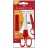 Nożyczki szkolne Grip Faber-Castell - czerwone (181550 FC)