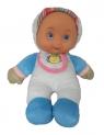Mięciutka lalka bobas biała 25 cm