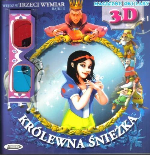 Królewna Śnieżka 3D magiczne okulary (Uszkodzona okładka)