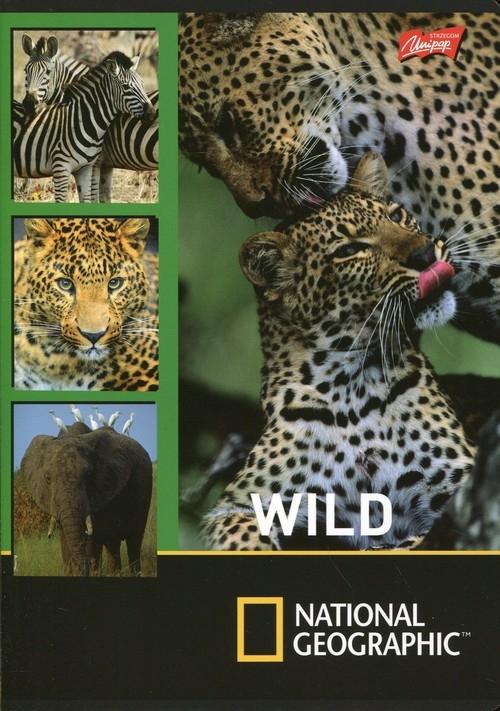 Zeszyt A5 National Geographic w linie 32 kartki Wild 15 sztuk