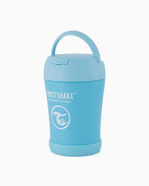 Twistshake Pojemnik Termiczny z Łyżką 350ml Pastelowo Niebieski