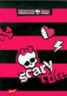 Brulion A6 Monster High w kratkę 96 kartek różowe pasy