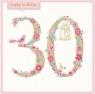 Karnet kwadrat z kopertą Urodziny 30