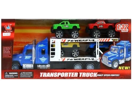 MC Auto ciężarowe z akcesoriami niebieski